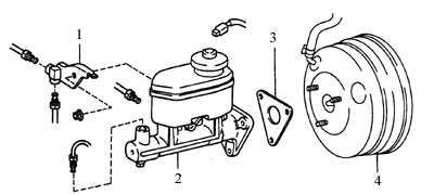 9.10 Главный цилиндр тормозной системы Toyota Corolla