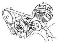 3.24 Проверка состояния, регулировка усилия натяжения и замена приводных   ремней Toyota Land Cruiser