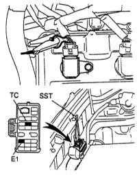 7.8 Проверка и регулировка установки угла опережения зажигания/впрыска   топлива бензинового двигателя