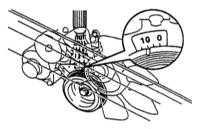 7.8 Проверка и регулировка установки угла опережения зажигания/впрыска   топлива бензинового двигателя Toyota Land Cruiser