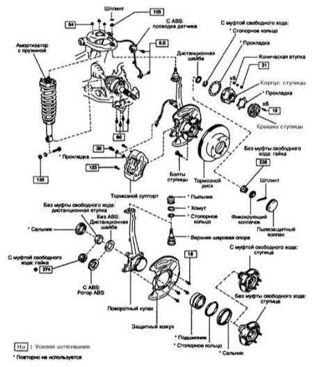 12.4 Снятие и установка сборки поворотного кулака со ступицей
