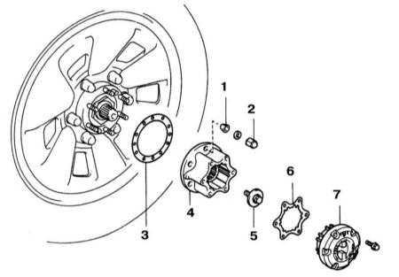 10.13 Снятие и установка ступиц с отключаемым приводом