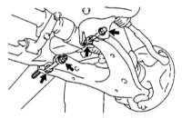 12.8 Снятие и установка нижнего управляющего рычага передней подвески
