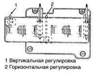14.12 Регулировка направления оптических осей головных фар