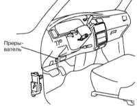 14.7 Проверка исправности функционирования и замена прерывателя указателей   поворотов/аварийной сигнализации и выключателя последней