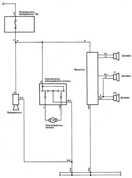 12.5 Прикуриватель и аудиосистема (а/м 1980-87 гг.)