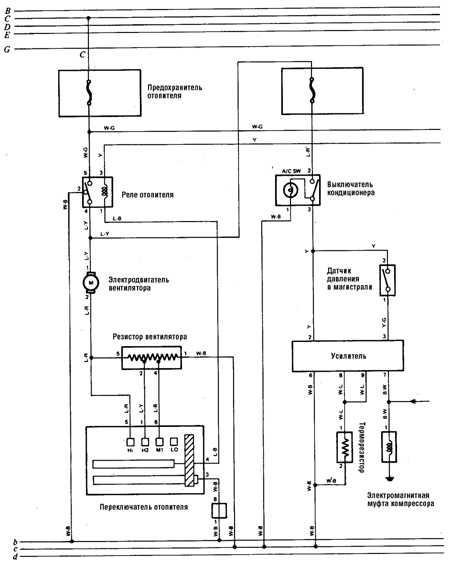 12.8 Система отопления и кондиционирования, система заряда (а/м 1988-90 гг.)