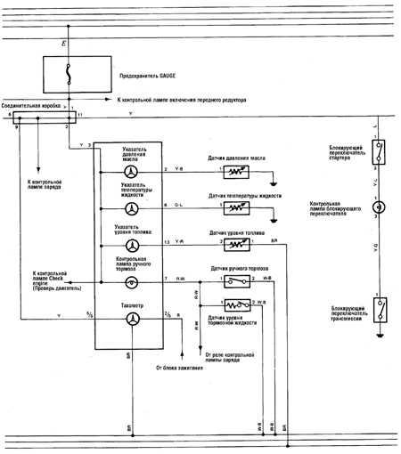 12.9 Система аварийной сигнализации двигателя (а/м 1988-90 гг.) Toyota Land Cruiser