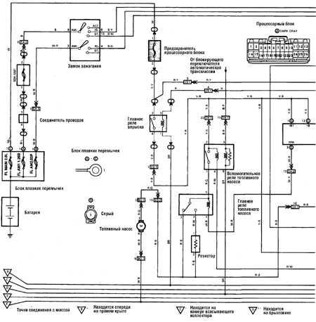 12.17 Схема управления двигателем (с 1989 г.)