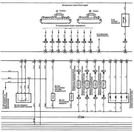 12.17 Схема управления двигателем (с 1989 г.) Toyota Land Cruiser