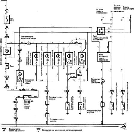 12.23 Внутреннее освещение (с 1989 г.) Toyota Land Cruiser
