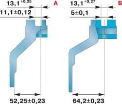 Контpольные pазмеpы вилок пеpеключения пеpедач синхронизированной коробки передач