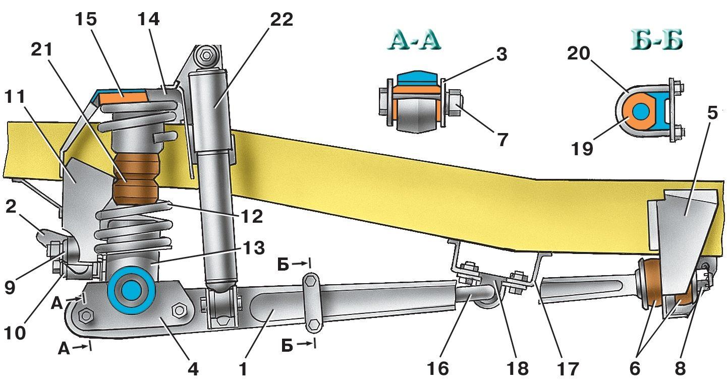 Схема переднего моста уаз хантер