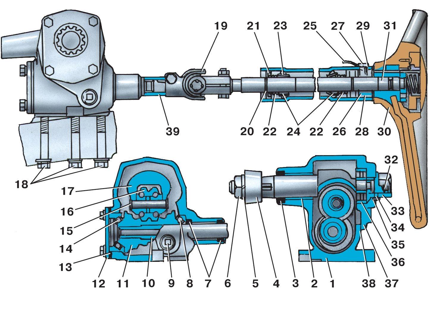 Рулевой редуктор уаз буханка схема