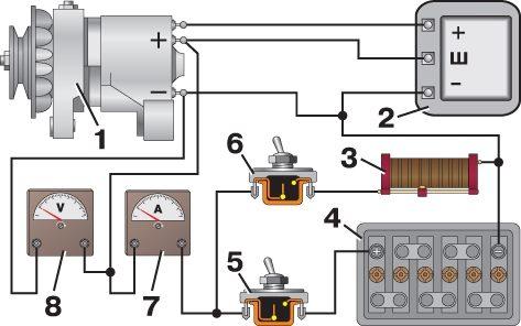Схема подключения генератора старого уаза