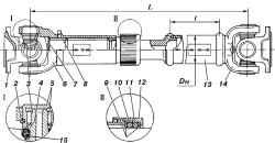 3.3 Карданная передача УАЗ 3160