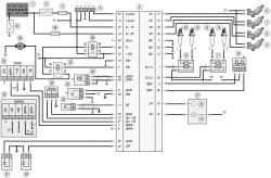 13.1 Схема 1. Соединения системы управления двигателем мод. ЗМЗ-409 (Евро-2)