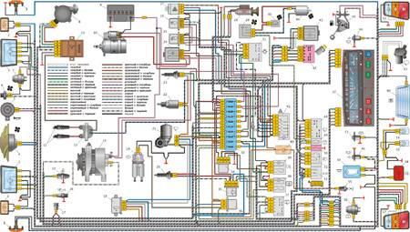 12.9 Приложение: Схема электрооборудования автомобиля ВАЗ 1111