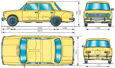 1.0 Технические данные ВАЗ 2101