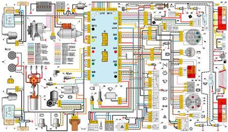 12.1 Интерактивная  электросхема автомобиля ВАЗ-2105