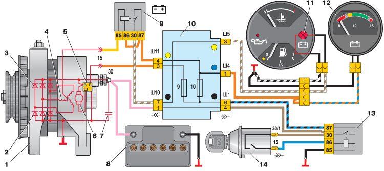 Схема замка зажигания ваз 2101, устройство и подключение своими руками.