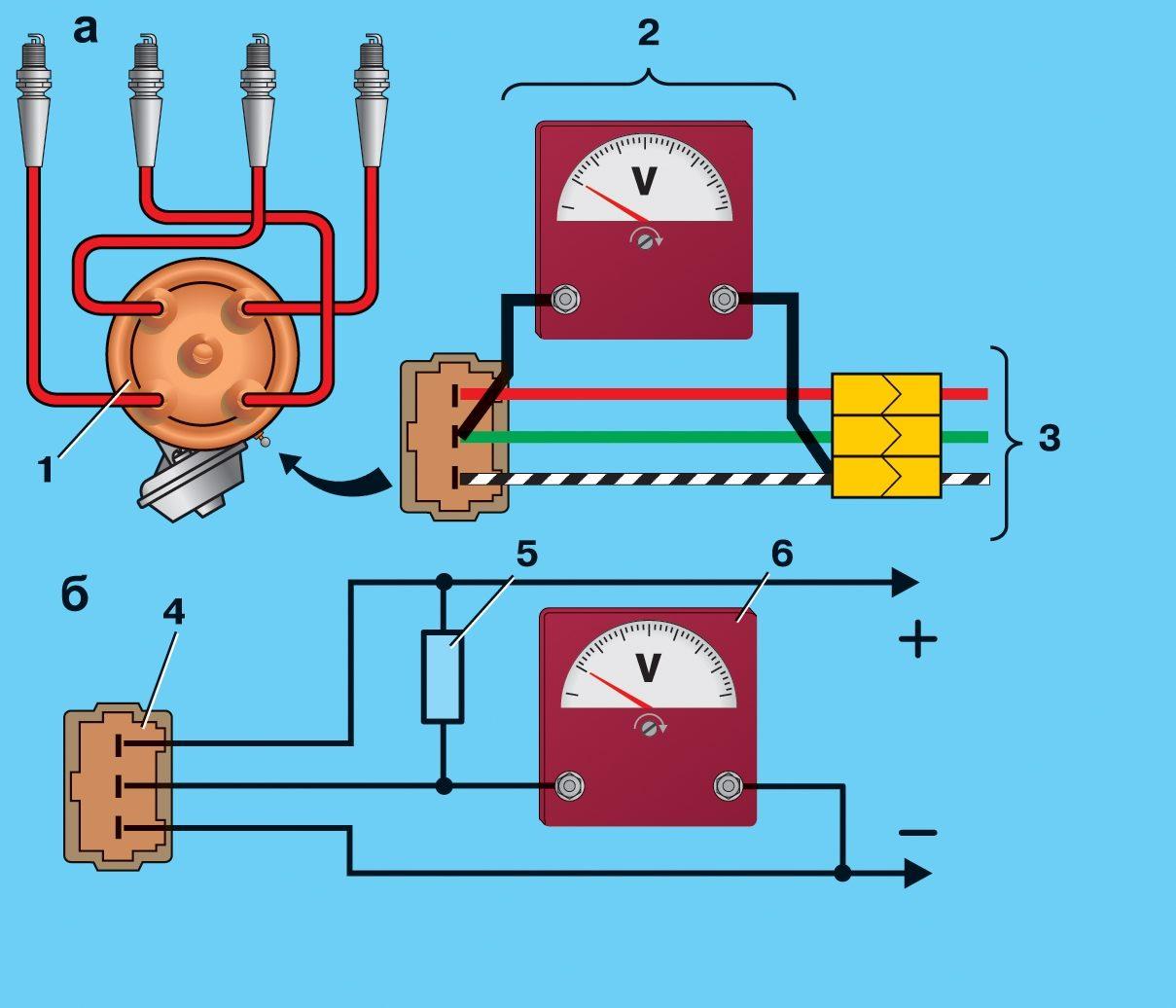 схема соединения катушки зажигания ваз 2107