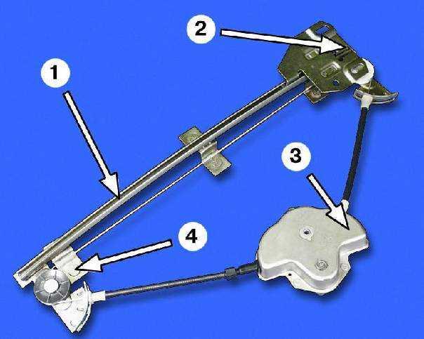 3 – механизм стеклоподъемника