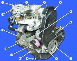 11.6 Полная разборка   двигателя ВАЗ 2108