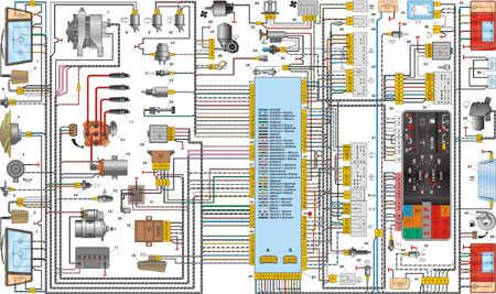 13.4 5. Схема электрооборудования ВАЗ-2108