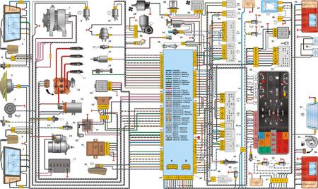 13.5 Приложение 5. Схема электрооборудования автомобиля