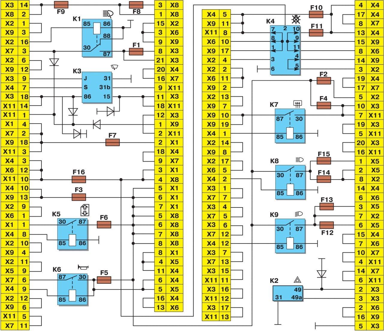 Блок монтажный 2109 описание схема