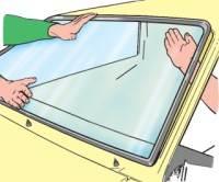 8.8.2 Замена ветрового стекла, стекол боковин и заднего окна ВАЗ 2115