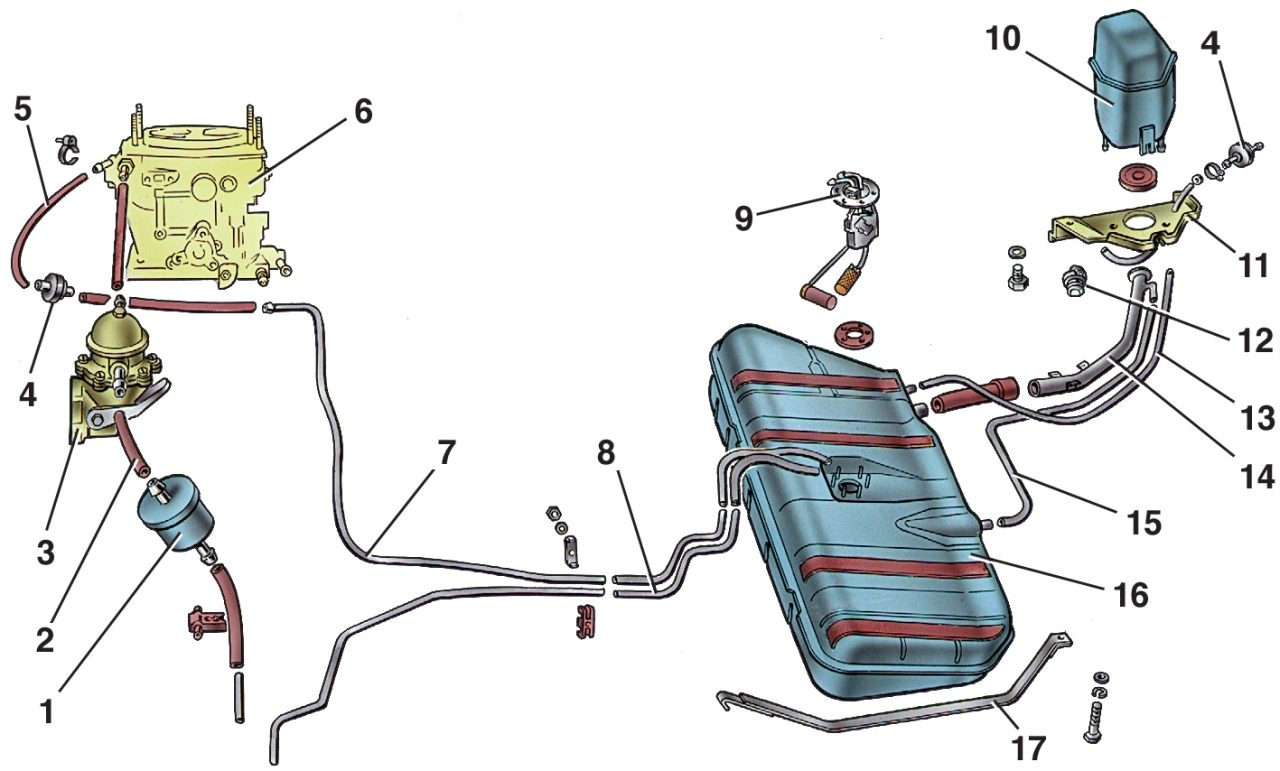 Тойота камри схема бензопровода