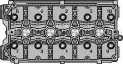 5.11.3 Замена прокладки головки блока цилиндров ВАЗ 2170