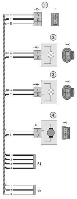 13.5 Схема 5. Соединения жгута проводов фонарей освещения номерного знака