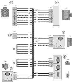 13.6 Схема 6. Соединения жгута проводов левой передней двери