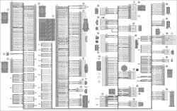 13.1 Схема 1. Соединения жгута панели приборов