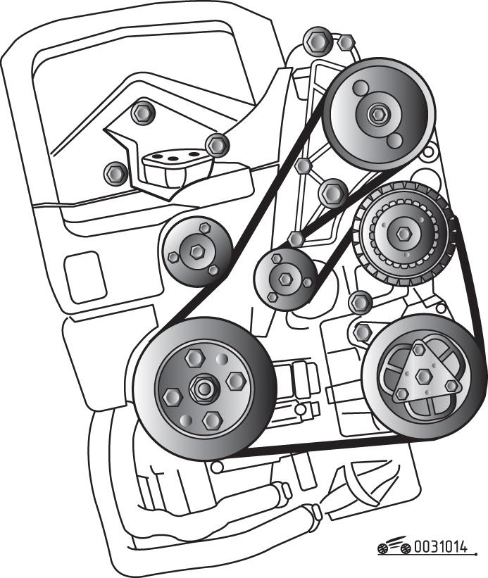 Volvo xc70 ремень схема