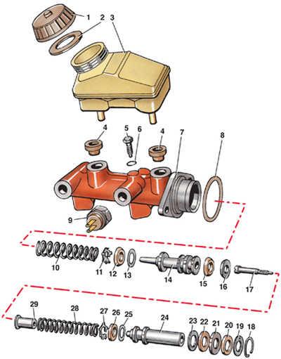 10.5 Главный тормозной цилиндр