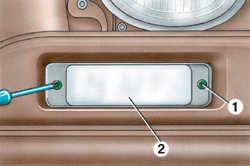 12.5 Замена лампы переднего указателя поворота