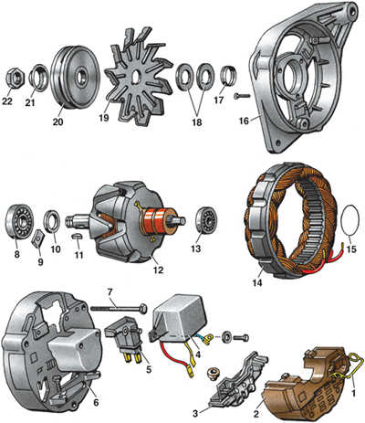 12.2.3 Разборка и сборка генератора Volkswagen Golf II