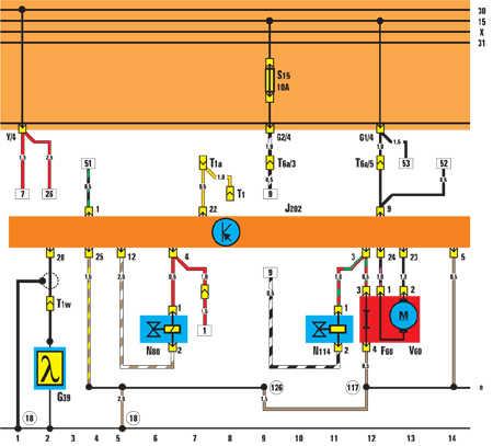 12.14.21 Блок управления Mono-Jetronic, устройство впрыска
