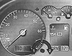 1.1.1 Контрольные приборы Volkswagen Golf IV