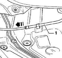 12.14 Снятие и установка тросов ручного тормоза Volkswagen Golf IV