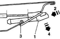 13.32.3 Снятие и установка сопел омывателей ветрового стекла