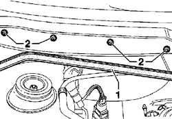 13.32.6 Снятие и установка двигателя стеклоочистителя ветрового стекла