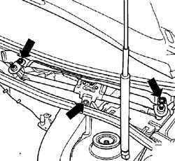 13.32.6 Снятие и установка двигателя стеклоочистителя ветрового стекла Volkswagen Golf IV