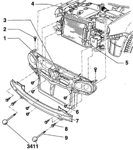 13.5 Передняя панель кузова Volkswagen Golf IV