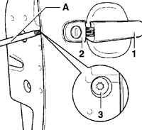 13.15.10 Снятие и установка корпуса цилиндра замка Volkswagen Golf IV