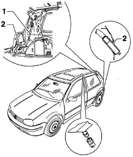 13.17 Очистка водосточного желоба Volkswagen Golf IV